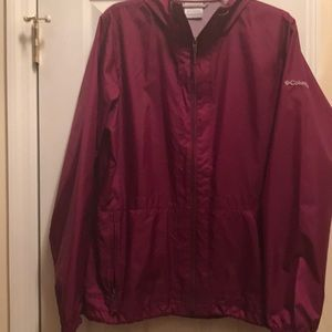 Columbia large woman rain jacket